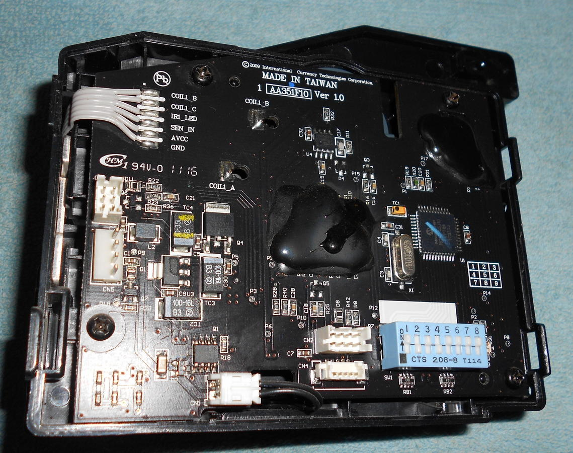 схема распайка кабеля для купюроприемника ict